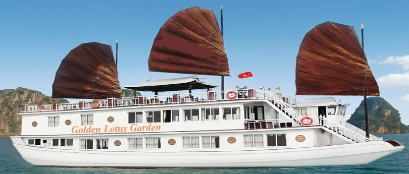HA LONG BAY TOUR FOR 2 DAYS 1 NIGHT ON GOLDEN LOTUS GARDEN CRUISE